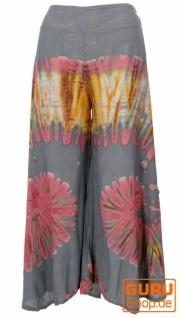 Farbenfroher Batik Hosenrock - grau