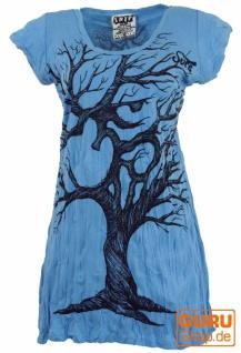 Sure Long Shirt, Minikleid OM Tree - hellblau