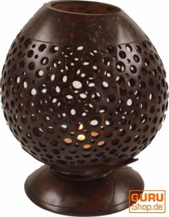 Dekoleuchte aus gravierter Kokosnuß - Modell 5