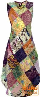 Patchwork Kleid, Hippie Kleid, Sommerkleid, Midikleid - rosa/bunt 1