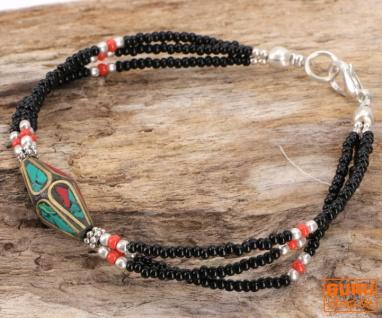 Tibetschmuck Perlenarmband, Ethnoarmband - Modell 2