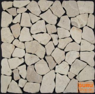 Mosaikfliesen aus weißem Marmor (G-01) - Design 2