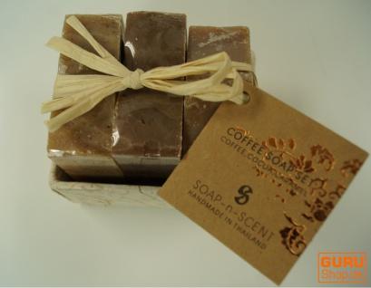 Seifenset, Geschenkset - Coffee Time - 3 x Duftseife 100 g, Fair Trade - Vorschau 3