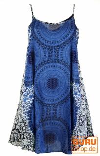 Boho Mandala Minikleid, Trägerkleid, Strandkleid - indigo