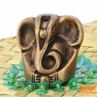 Räucherstäbchenhalter Ganesh aus Messing - 3, 5 cm
