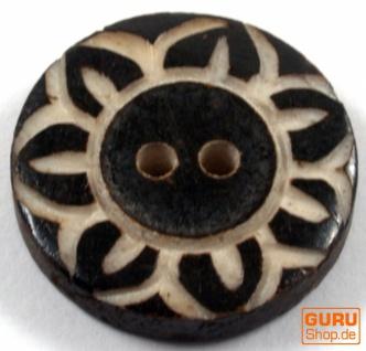 Tibet Knopf aus Horn - 9