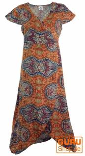 Boho Wickelkleid, langes Sommerkleid - rostorange