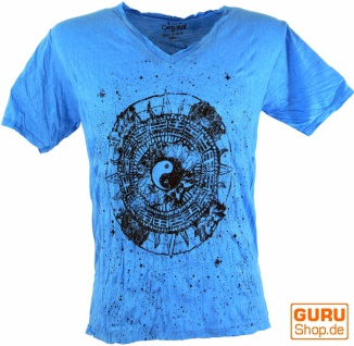 Pure T-Shirt Ying Yang - blau