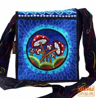 Hippie Tasche, Bestickte Motivtasche Magic Mushroom