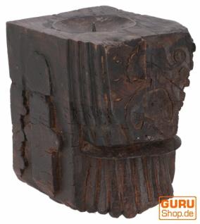 Massiver Indischer Kerzenhalter, Kerzenständer `Rajasthan`- Einzelstück