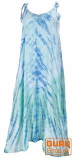 Boho Batikkleid, Strandkleid, Sommerkleid in Übergröße - aqua