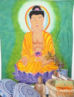 Wandbehang, Wandtuch, Wandbild, Batiktuch - Buddha