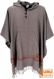 Poncho Hippie chic, warmer Andenponcho - camel
