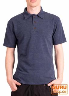 Poloshirt, Hemd aus Bio-Baumwolle / Chapati Design - navy