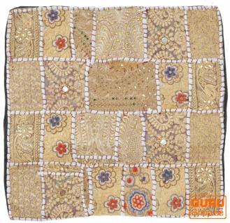 Patchwork Kissenhülle, Dekokissen Bezug aus Rajasthan, Einzelstück - Muster 5