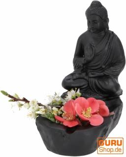 Aschenbecher mit Buddha Figur, Schale mit sitzendem Buddha