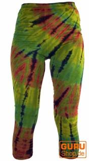 3/4 Batik Damen Leggings, Stretch Sporthose für Frauen, Yogahose - Vorschau 2