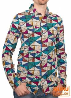 Langärmliges Hemd / Chapati Design - petrol diamond