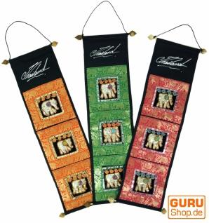 Brokat Wandtasche mit 3 Fächern aus Thailand - Muster 1