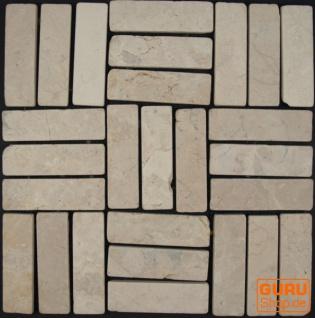 Stäbchen Mosaik Fliesen aus Marmor (P-05) - Design 12