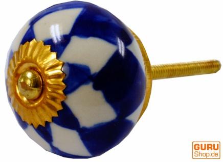 Keramik Möbelknopf, Möbelknauf Möbelgriff, Schranktürknöpfe, Möbelknöpfe, Schubladengriff - Modell 112