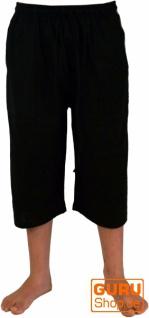 3/4 Yogahose, Goa Hose, Goa Shorts, Herren Shorts - schwarz
