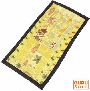 Indischer Wandteppich Patchwork Wandbehang, Tischläufer, Einzelstück 80*45 cm - Muster 18
