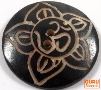 Tibet Knopf aus Horn - 3