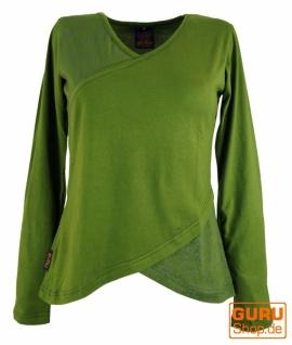 Langarmshirt Boho-chic - grün