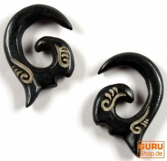Horn Ohrring, Plug, Dehnungsspirale, Piercing - Model 11