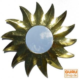 Sonnenspiegel, Deko Spiegel aus Holz in Sonnenform - gold 2