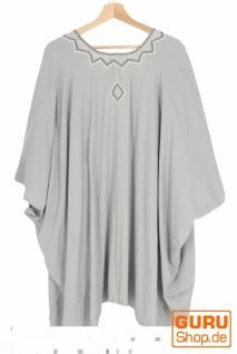 Kurzer bestickter Sommer Kimono, Kaftan, Strandkleid - hellgrau - Vorschau 2