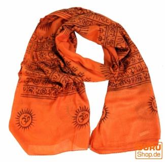 Dünnes Baba Tuch, Benares Lunghi - orange