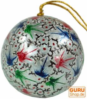 Upcyceling Weihnachtskugel aus Pappmachee, Handbemalter Christbaumschmuck, Kaschmirkugeln - Muster 6