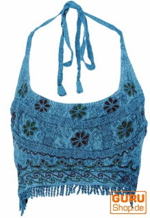 Goa Top, Psytrance Bandeau Top - blau