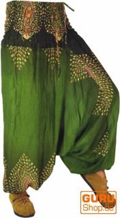 Afghani Hose Haremshose Pluderhose Pumphose Haremshose Aladinhose - grün
