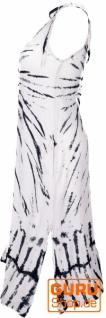 Boho Batikkleid, Strandkleid, Sommerkleid in Übergröße - weiß - Vorschau 2