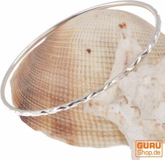 Silberner Boho Armreifen, schlichter Silberarmreif - Modell 2