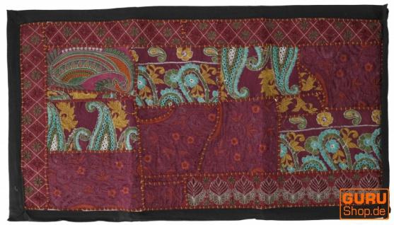 Indischer Wandteppich Patchwork Wandbehang, Tischläufer, Einzelstück 85*45 cm - Muster 3