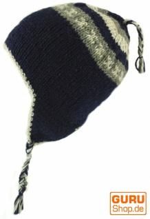 Wollmütze mit Ohrenklappen, Norwegermütze Norwegermütze Ohrenklappen, - blau 13d628
