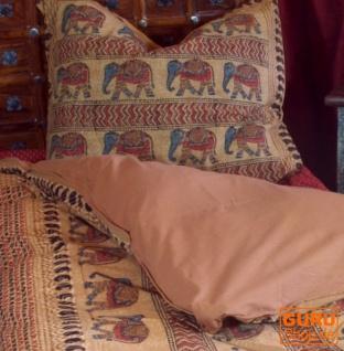 Handbedruckte Blockdruck Bettwäsche aus Baumwolle - Motiv 1 (Double 135*200 cm)