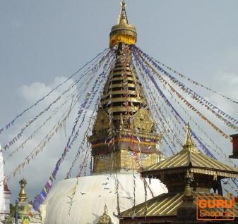 5 Stück Sparpack Gebetsfahnen (Tibet) mit 10 Wimpeln in verschiedenen Längen - Vorschau 5