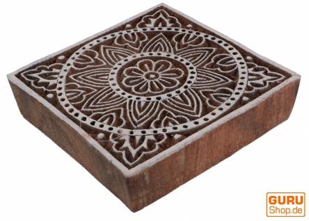 Indischer Textilstempel, Stoffdruckstempel, Blaudruck Stempel, Holz Model - 10*10 cm Mandala 3