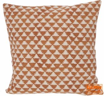 Gewebter Kelim Kissenbezug Blockdruck, Dekokissen Bezug, Boho Kissen traditionelle Herstellung - Muster 10