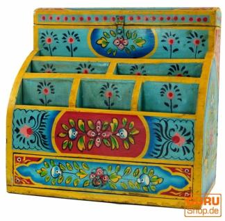 Vintage Schreibtisch Ordner, Schreibtisch Ablage - türkis Modell 1