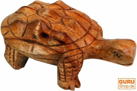 Geschnitzte kleine Deko Figur - Schildkröte 2 - Vorschau