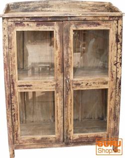 Glasschrank, Glasvitrine, Küchenschrank - Modell 12