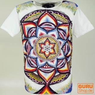 Mirror T-Shirt - Mandala/ weiß