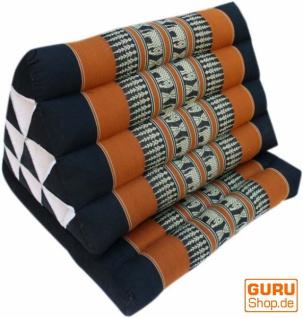Thaikissen, Dreieckskissen, Kapok, Tagesbett mit 1 Auflage - schwarz/orange - Vorschau 2