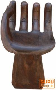 Stuhl in Handform, Hocker, Statue, Handarbeit, Unikat - Modell 1 - Vorschau 5